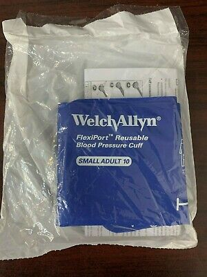 New Welch Allyn FlexiPort Reusable Blood Pressure Cuff REUSE-10 Small Adult 10