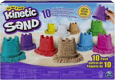 Kinetic Sand Castle Containers Molds 10 Pack Multicolor Beach Mix Melt Squeeze