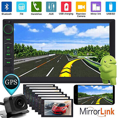1024*600 HD 7'' Android Car Stereo Radio 2 DIN GPS Navigation WIFI Quad-Core