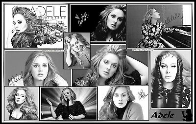 Adele, Signed, A4 MAGNETIC COLLAGE IMAGE. Limited Edition (Ad-1)