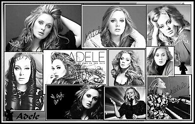Adele, Signed, A4 MAGNETIC COLLAGE IMAGE. Limited Edition (Ad-2)