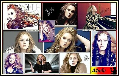 Adele, Signed, A4 MAGNETIC COLLAGE IMAGE. Limited Edition (Ad-3)