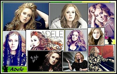 Adele, Signed, A4 MAGNETIC COLLAGE IMAGE. Limited Edition (Ad-4)