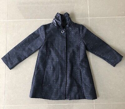 New Girls Coat Age 3-4 New With Tags Mini Club 98-104cm Navy Blue
