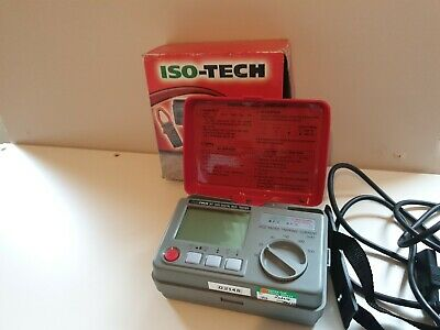 ISO-TECH IRT 1900 DIGITAL RCD Tester Unit COMPLETE With TEST PROBE