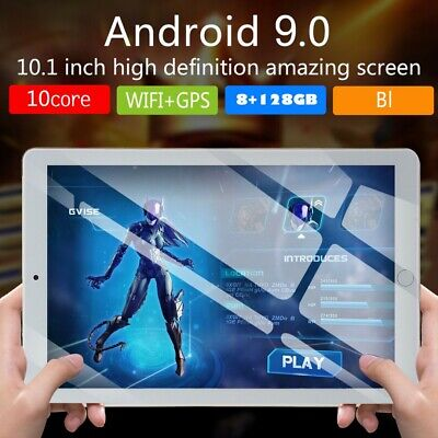 "HD PC Tablet 10.1"" WIFI/3G-LTE IPS Android 9.0 bluetooth 8+128GB Dual SIM Camera"