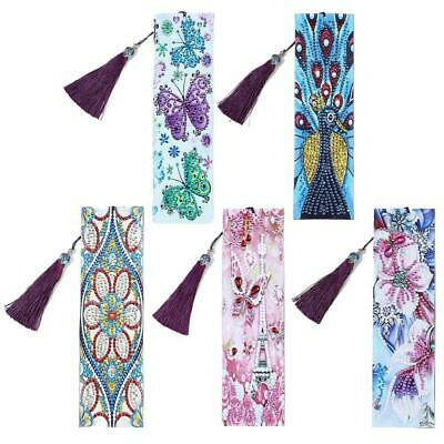 DIY Special Shaped Diamond Painting Leather Bookmark Tassel Book Marks Gift New