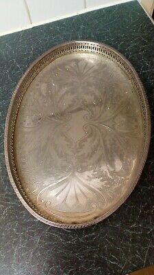 Vintage Falstaff Heavy Silver Plated Tray