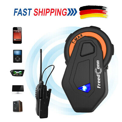 BT 1500m Bluetooth Intercom Motorrad Helm Headset Interphone Wasserdicht H3U5