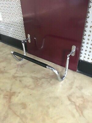 5 x Vintage Hairdressing / Barber Foot Rests Folding Chrome Wall Mounting