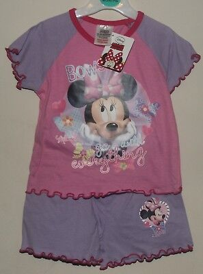 Girls Disney MINNIE MOUSE Summer Pyjamas/PJ Shorts Set/Shorty PJs  1.5-4 years