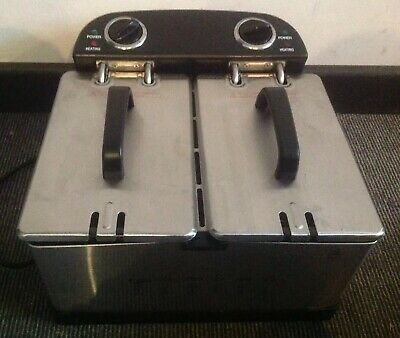 Cookworks Twin Professional Fryer Fully Working With Box