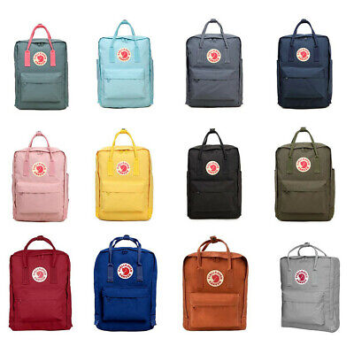 Waterproof Fjallraven Kanken0 Sport Backpack Canvas Travel Bag 7L/16L/20L