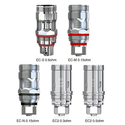 5pcs Genuine Eleaf coils : EC, EC2, EC-N / EC-M / EC-S for Melo 3 / 4 / 5, iJust