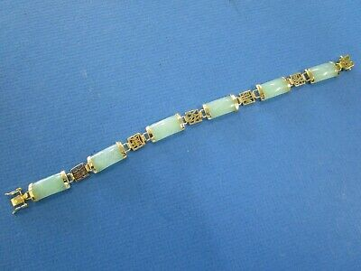Jade and  18 k Gold Plated Lucky/Fortune Ladies Bracelet