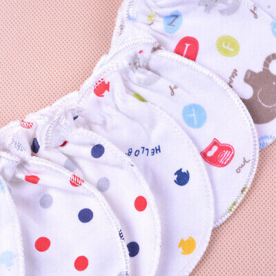Baby Soft Cotton Infant Anti Scratch Mittens Gloves Girl Hand New guard Boy C3X1