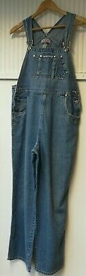 """Vintage Used Womens Large W 36"""" Long Denim Jeans Overalls Dungarees Ref 1238"""