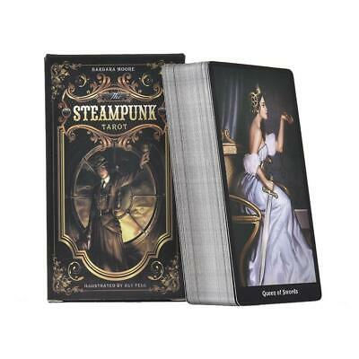 78PCS Tarot Card Deck Vintage Colorful Box Tell Game  for Family Gathering Party