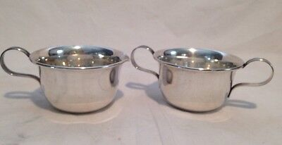 Vtg Lenox Solid Sterling Silver Creamer Cream Pitcher and Open Sugar Bowl Set 94