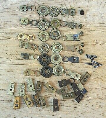 Genuine Antique French Clock Ratchet wheels Brackets etc