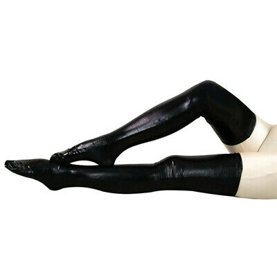 Sexy Wet Look Faux Leather PVC Stockings & Leggings Ups Hold Fetish T6P5