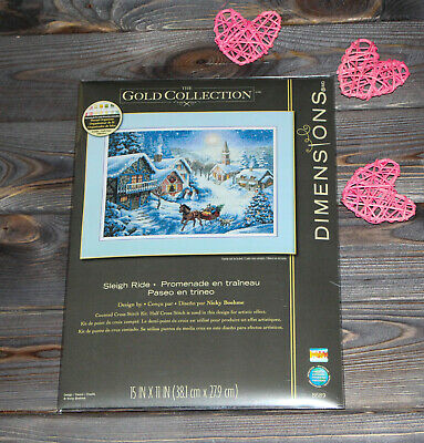 Dimensions Counted Cross Stich Gold Collection Sleigh Ride 08689