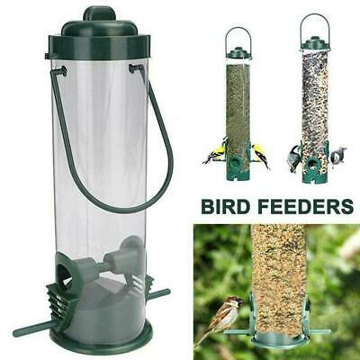 Hanging Wild Bird Feeder Seed Durable Container Hanger Good Outdoor Feed Ga Z8H3