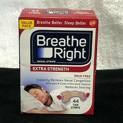 Breathe Right Extra S. Drug-Free Nasal Strips for Nasal Congestion Relief, 44