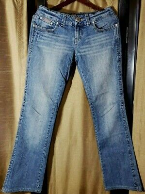 Bubblegum Women´s Girls Blue Denim Jeans Distressed Size 7/8   (4)