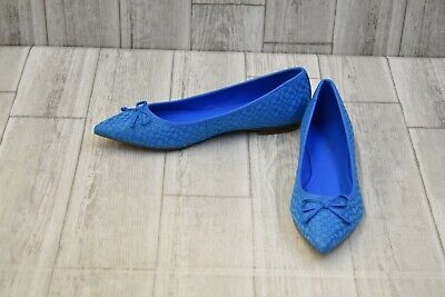 Marc Fisher Womens Apala Blue Ballet Flats Size 8.5