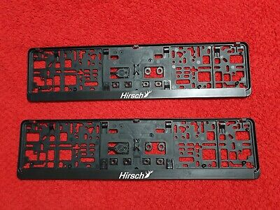 Saab Hirsch Number Plate Surrounds