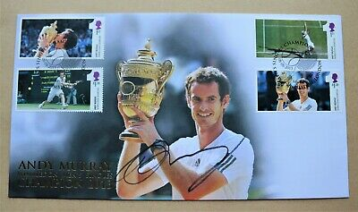 Andy Murray Wimbledon Singles Champion 2013 Buckingham Fdc Signed Andy Murray
