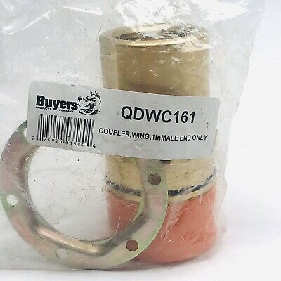 Buyers Qdwc161 Coupler,Wing,1In Male End Only