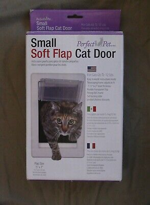 """Perfect Pet Soft Flap Cat Door 5"""" X 7"""" Flap Size For Cats Up To 12 Pounds"""