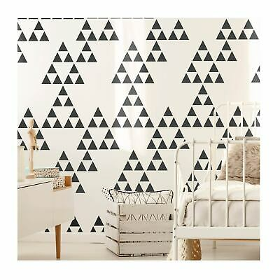 NAASKO Modern Geometric Triangle Wall Furniture Stencil for Painting