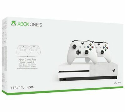 Xbox One S 1TB Console with 2 Controllers + FIFA 20 GAME (NEW - SEALED)