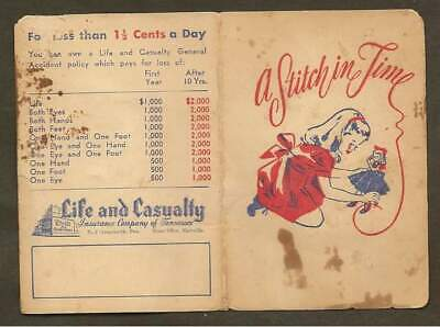 A Stitch In Time Needle Packet - Life & Casualty Insurance Co. Of Tennessee