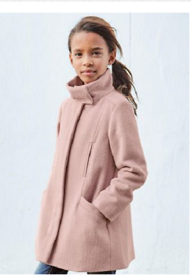 BNWT NEXT Girls Dusky Pink Funnel Neck Coat Jacket 4-5 Years RRP £38