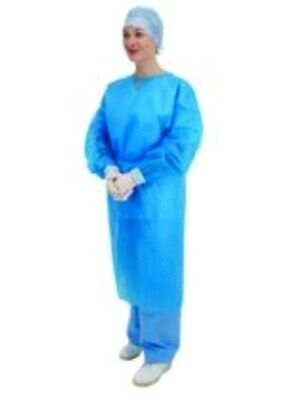 50 Disposable Examination Gowns Blue NHS Hospital Protect Overall Premier