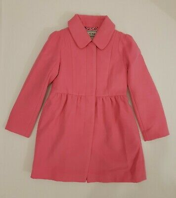 BNWT NEXT Girls Pink Coat Jacket With Collar 5-6 Years RRP £32