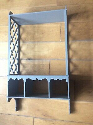 Antique Style small wooden wall shelf Grey