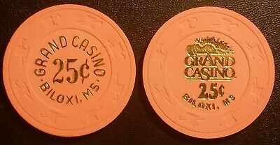 Pair of Grand Casino Biloxi, Mississippi  25c Gambling Chips (obsolete)