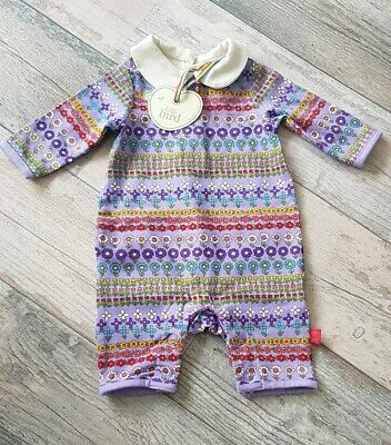 Mothercare Little Bird Jools Lilac Floral Romper Playsuit All-In-One Up to 1M