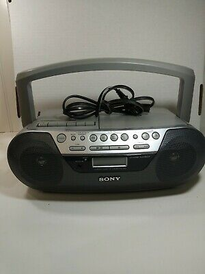 Sony CFD-S05 CD Player Radio Cassette AUX Portable Stereo Boombox FULLY TESTED
