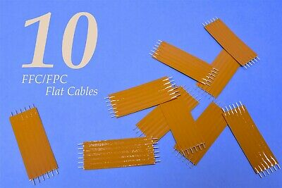 "10 (Ten) Tyco 0.1"" (2.54mm) Pitch FlexStrip 1.75"" 6-Conductor FFC FPC Cables"