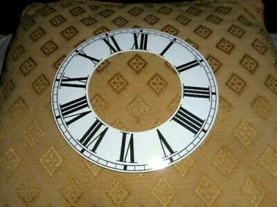 """Round Paper (Card) Clock Chapter Ring - 7 1/4 """" M/T - Roman - GLOSS WHITE -Parts"""