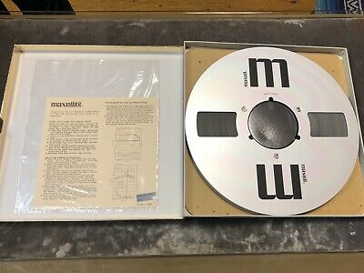 "Maxell UD 35-180 Sound Recording Tape 10.5"" Reel Metal!"