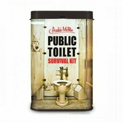 Public Toilet Survival Kit Archie McPhee Novelty Gag Funny Kris Kringle