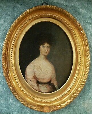 Charming antique Georgian c1760 oval oil lady portrait. 18th century frame too