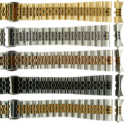 Jubilee Stainless Steel Solid Links High Quality Watch Bands Straight&Curved end